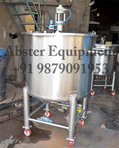 pharmaceutical-solution-prepration-tank-with-pnumatic-stirrer-agitator